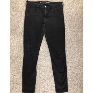 American Eagle Black Skinny Jean, Size 12 Ex-Long